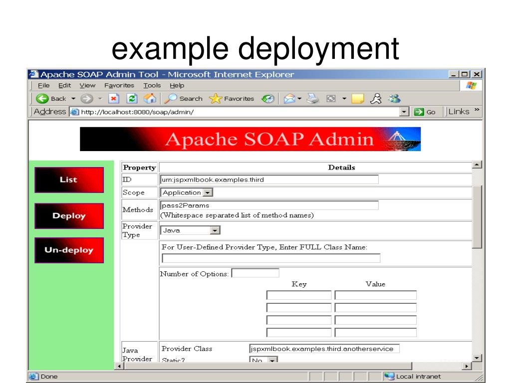 example deployment