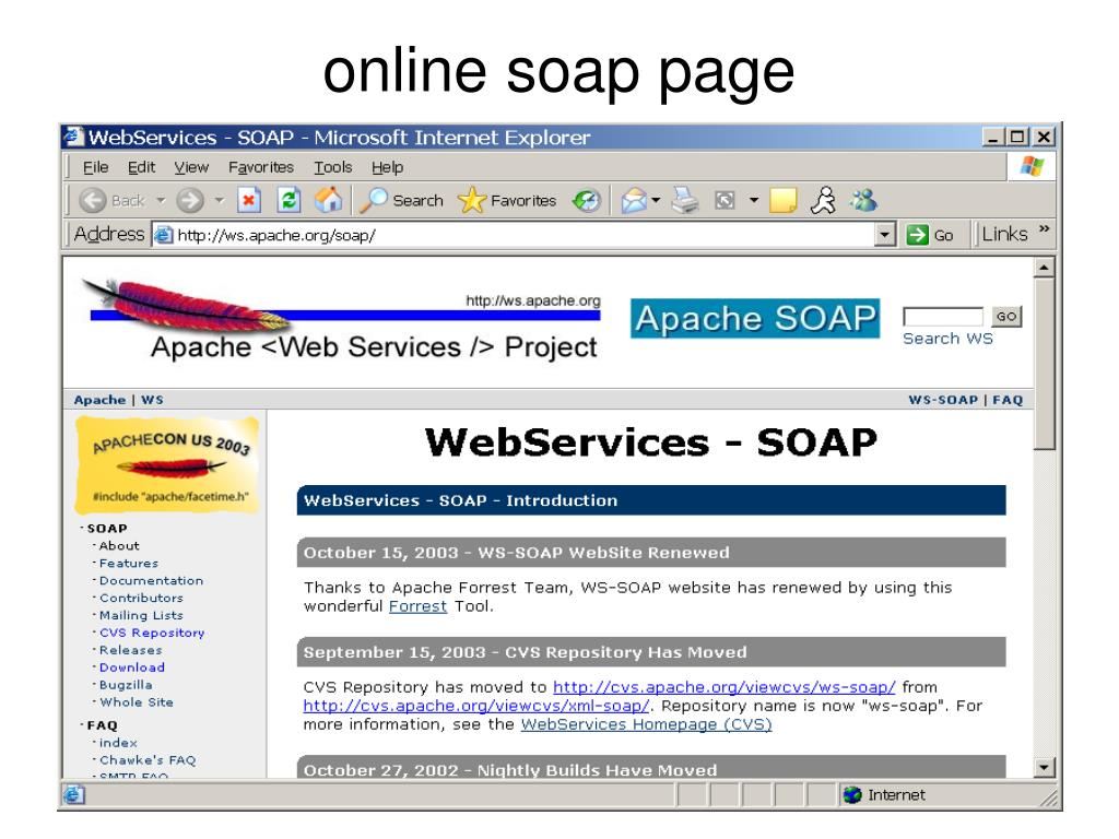 online soap page