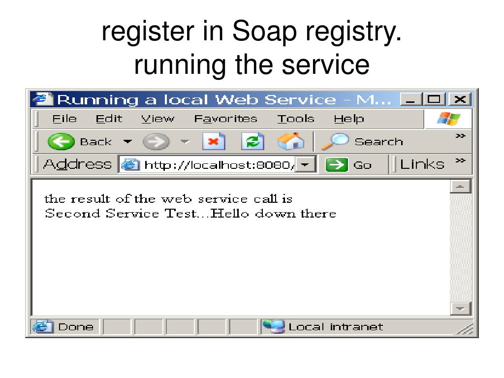 register in Soap registry.