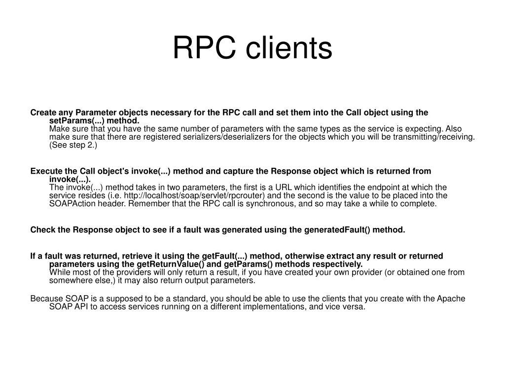 RPC clients