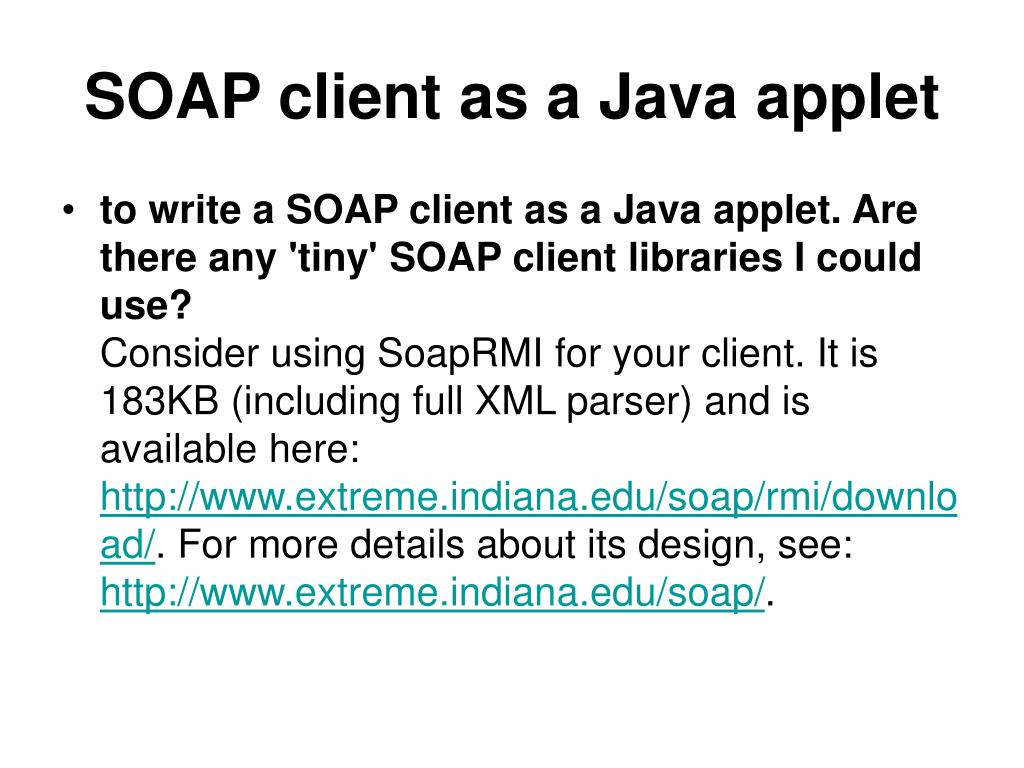 SOAP client as a Java applet