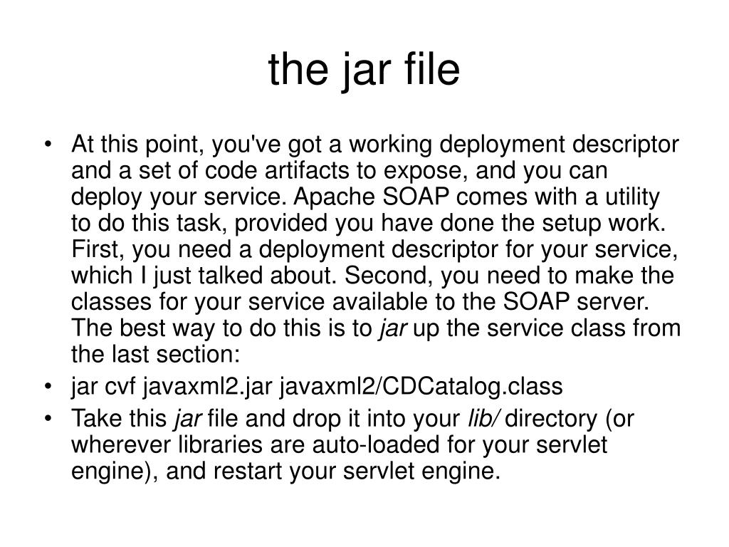 the jar file