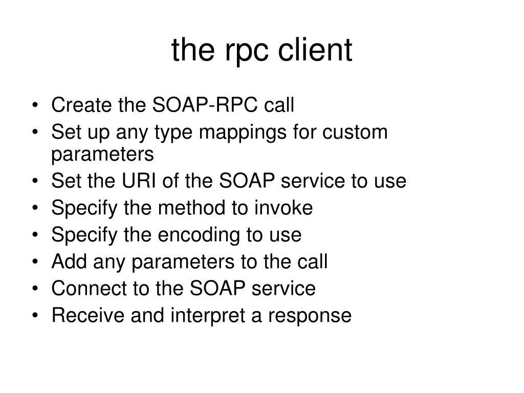 the rpc client