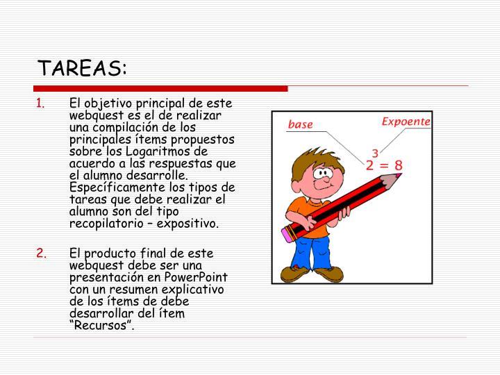 TAREAS: