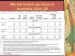 mental health services in australia 2004 05