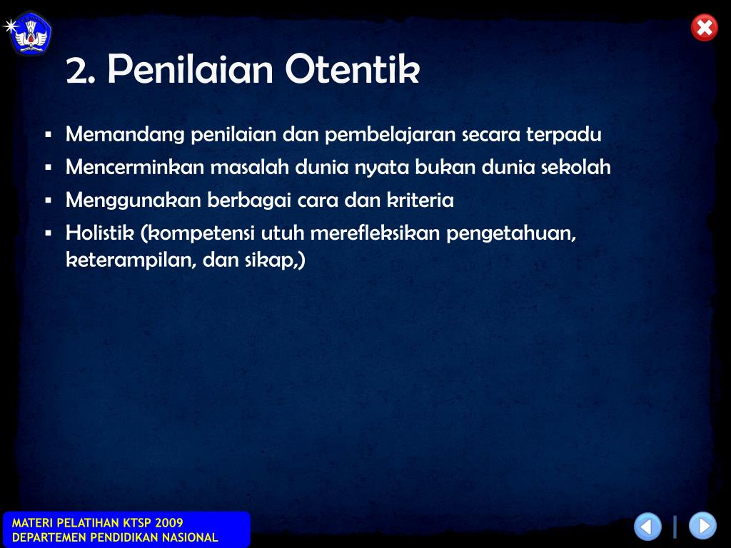 2. Penilaian Otentik
