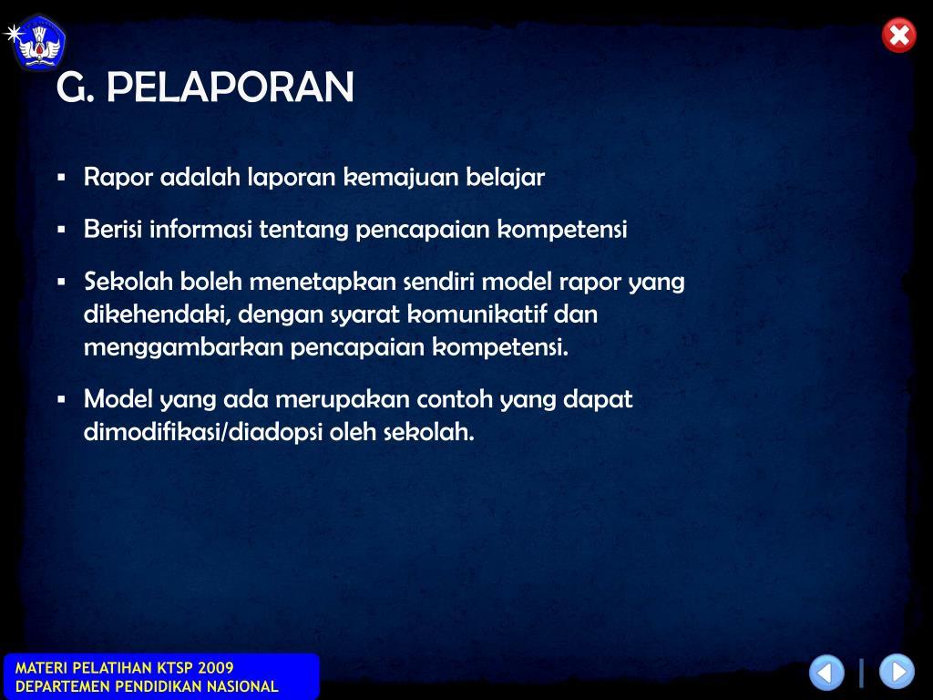 G. PELAPORAN