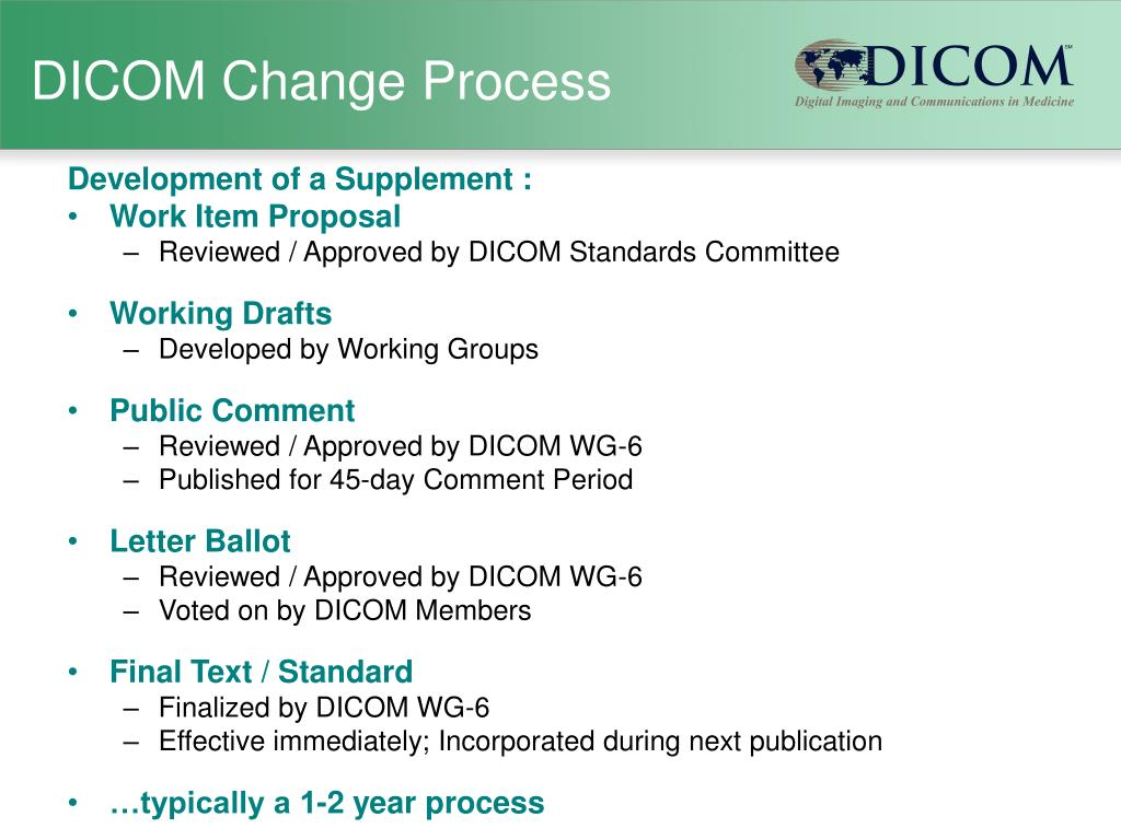 DICOM Change Process