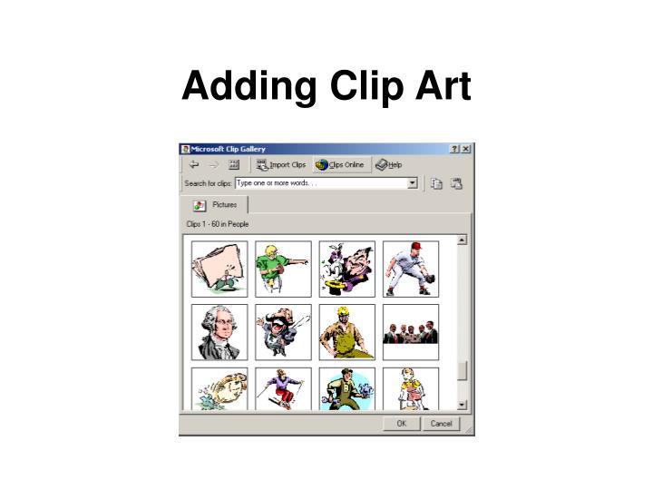 Adding Clip Art