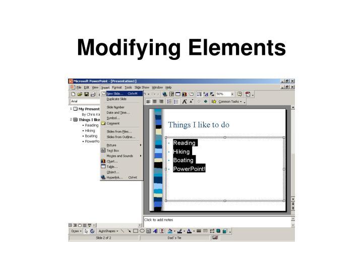 Modifying Elements