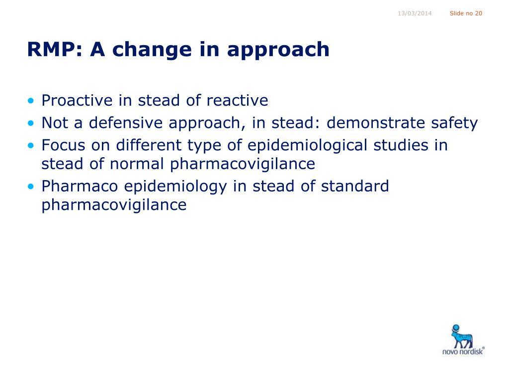 RMP: A change in approach