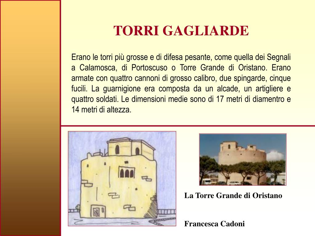 TORRI GAGLIARDE