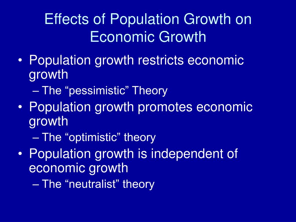 population growth and economic development Urban population economic growth south asia vector error correction model   population growth and economic growth of the developed and developing.