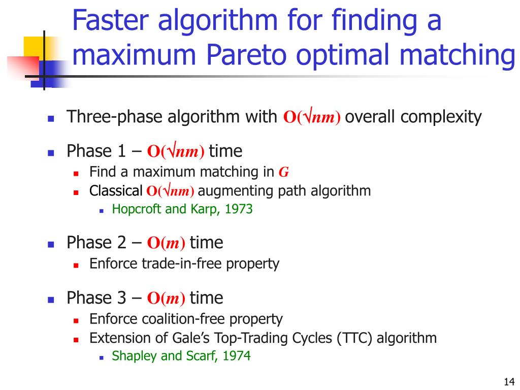 Faster algorithm for finding a maximum Pareto optimal matching
