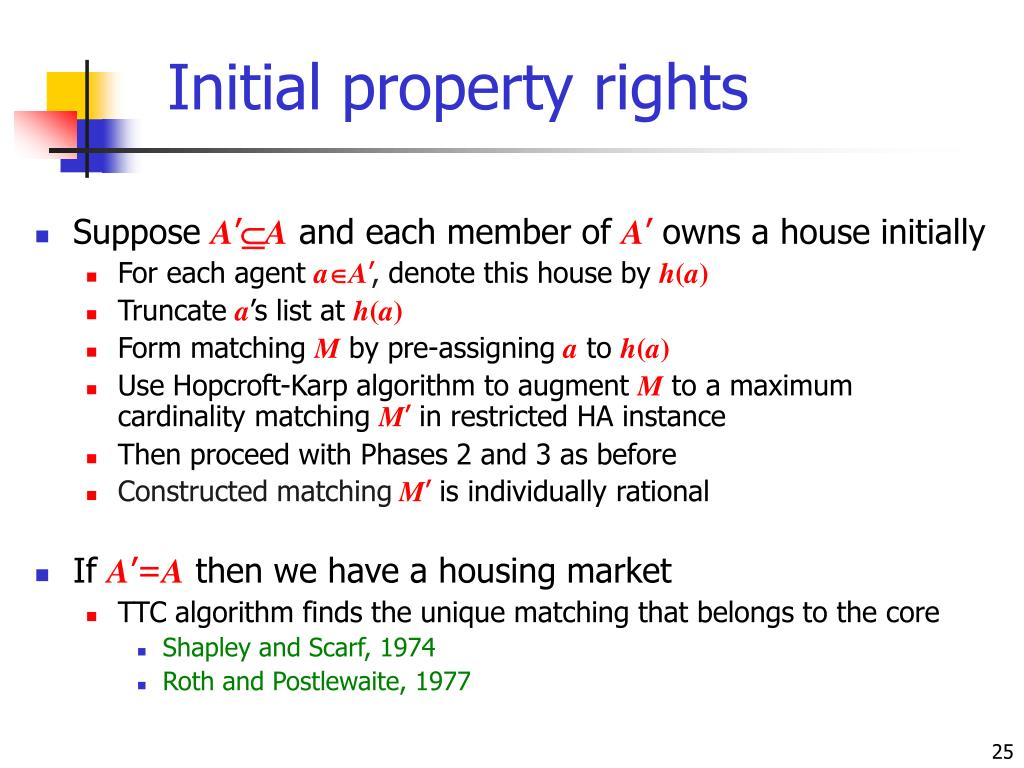 Initial property rights