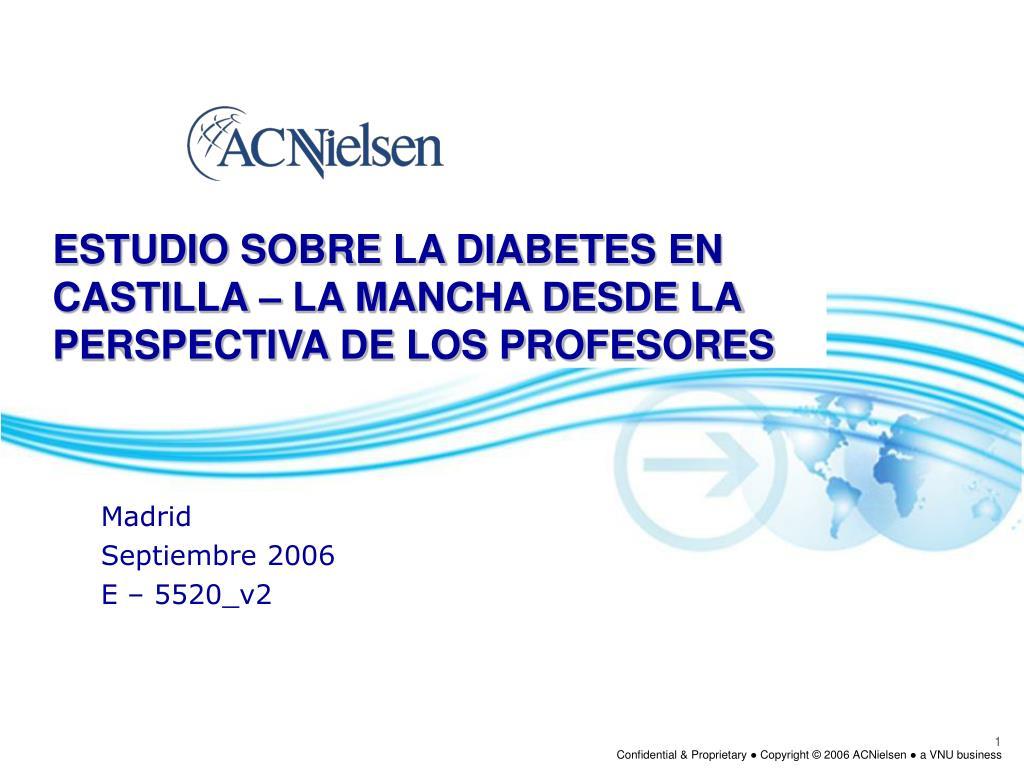 estudio sobre la diabetes en castilla la mancha desde la perspectiva de los profesores