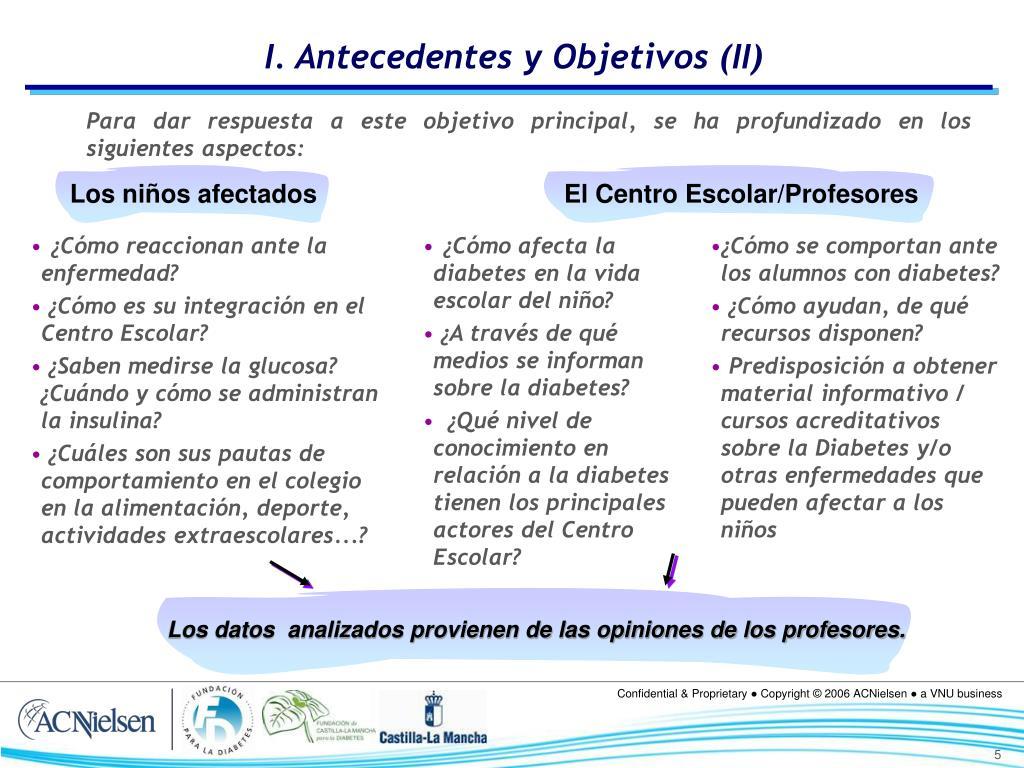 I. Antecedentes y Objetivos (II)