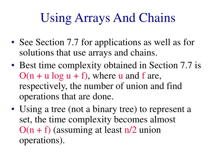 Using arrays and chains l.jpg