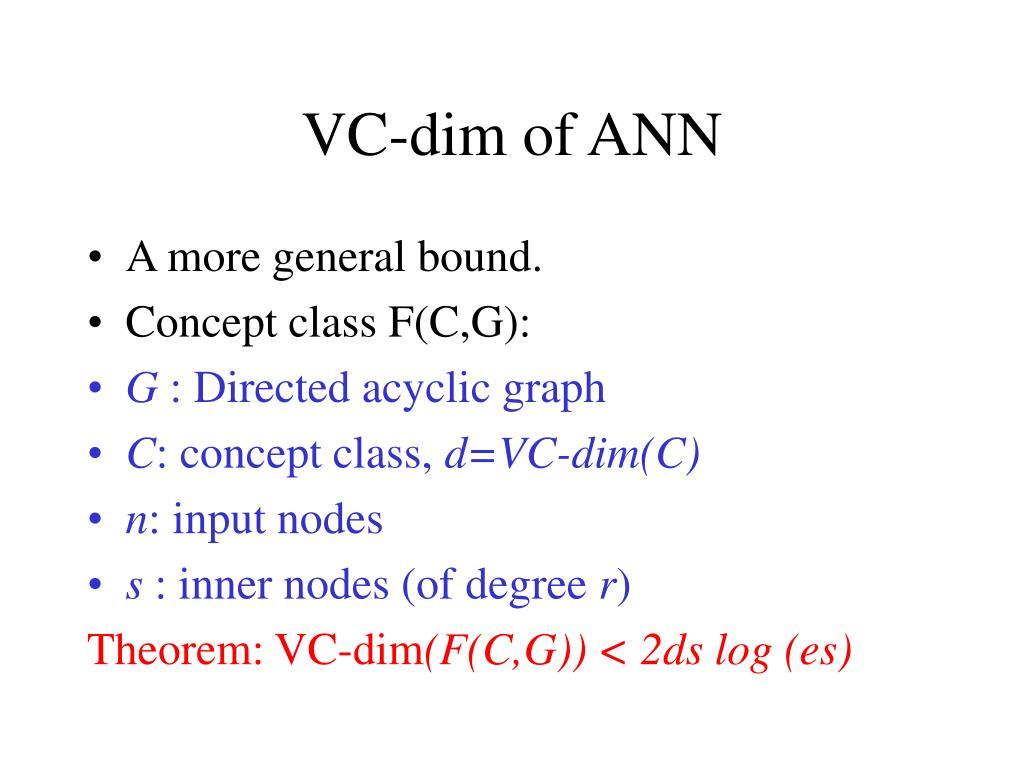 VC-dim of ANN