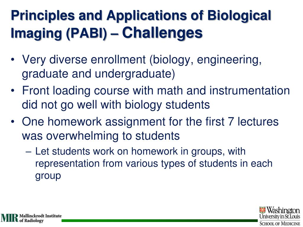Principles and Applications of Biological Imaging (PABI)