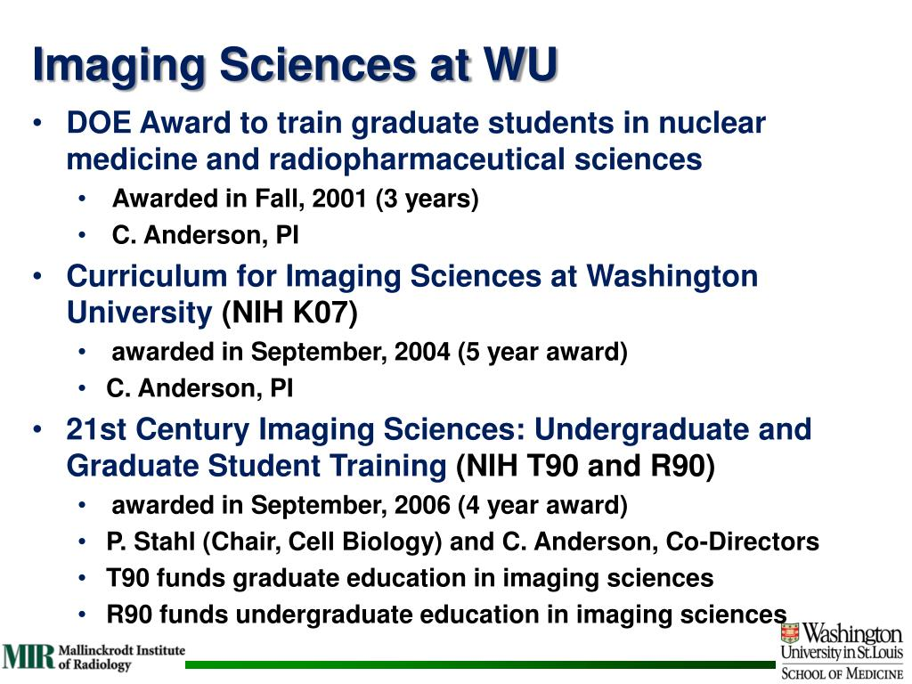 Imaging Sciences at WU