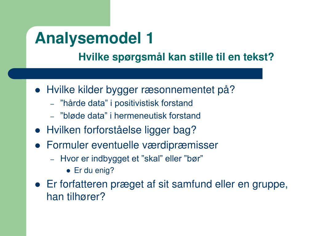 Analysemodel 1
