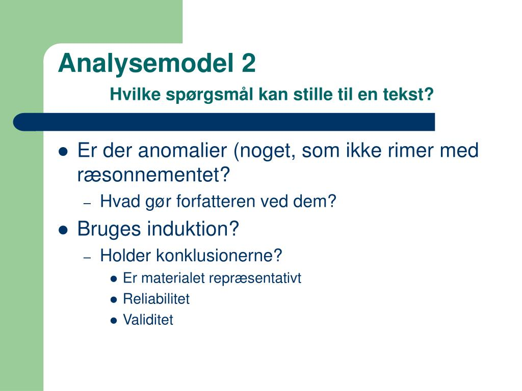 Analysemodel 2