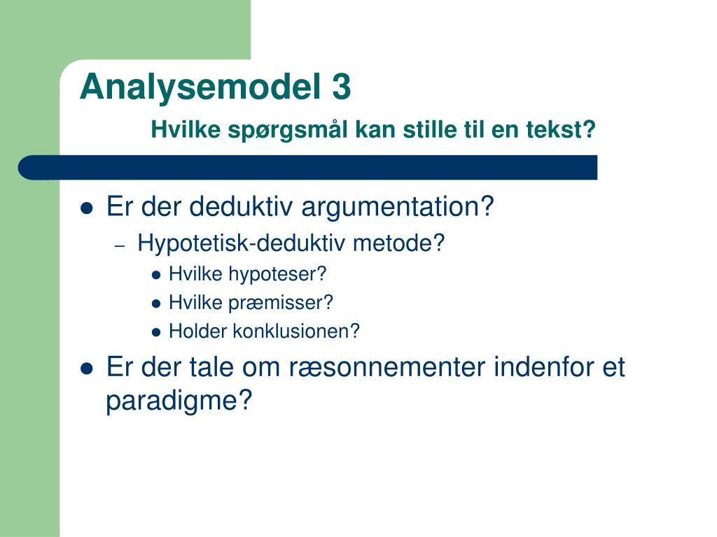 Analysemodel 3