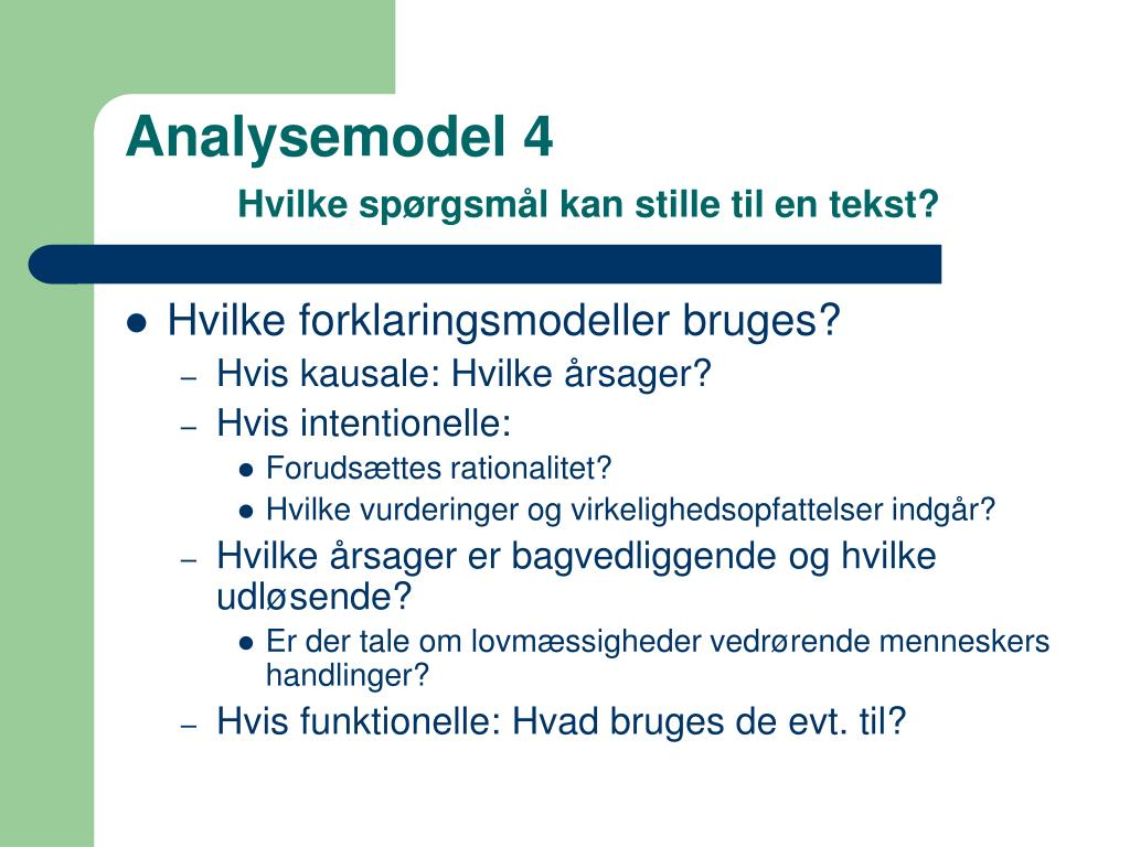 Analysemodel 4