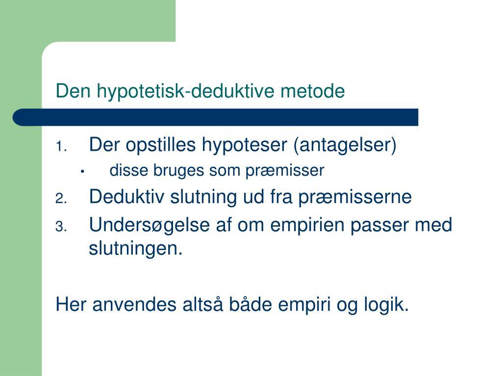 Den hypotetisk-deduktive metode