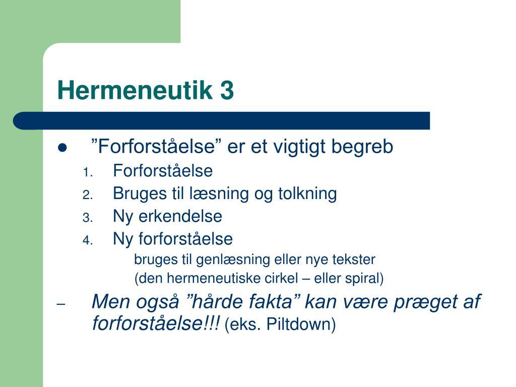 Hermeneutik 3