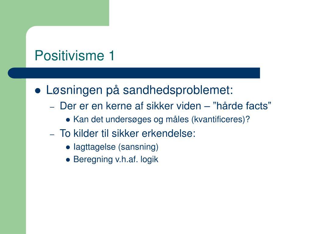 Positivisme 1