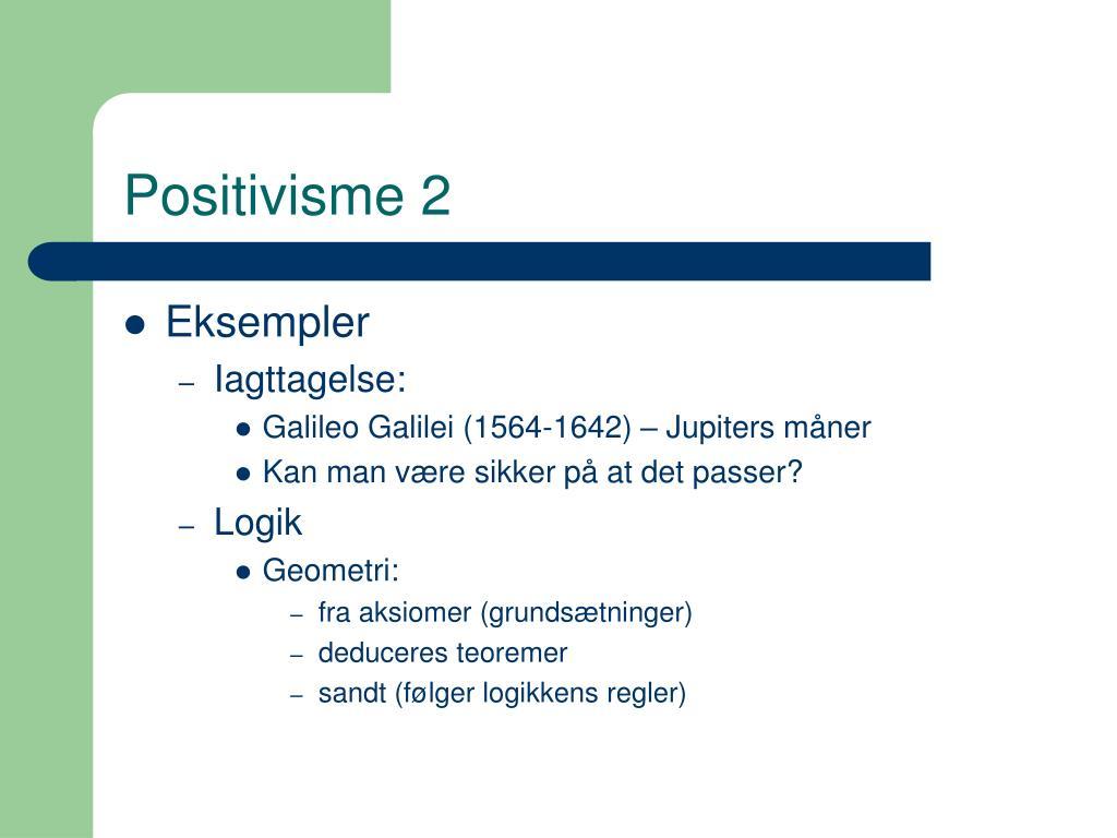 Positivisme 2