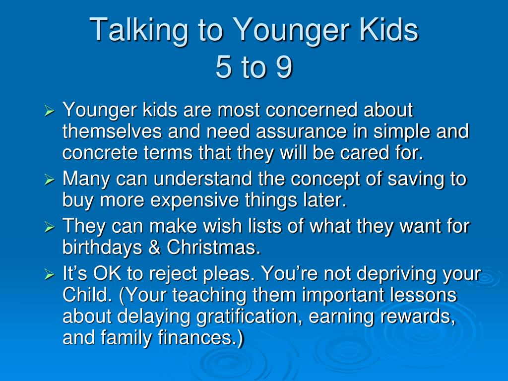 Talking to Younger Kids