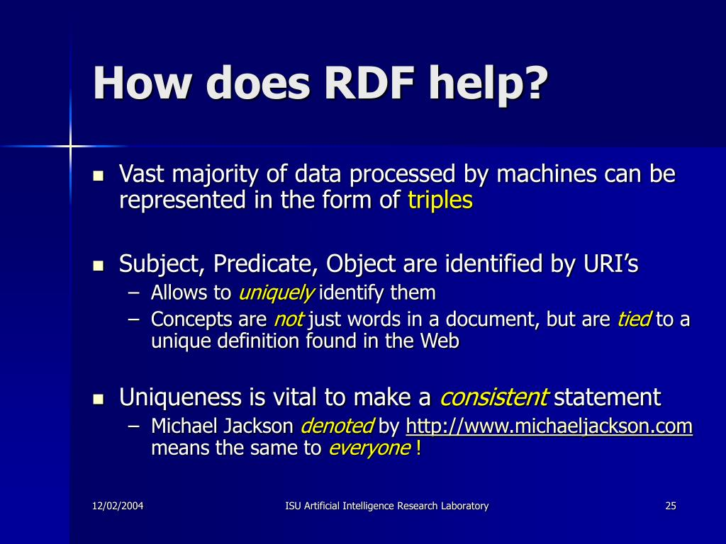 How does RDF help?