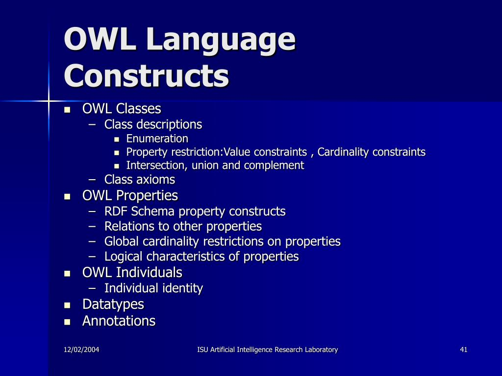 OWL Language Constructs
