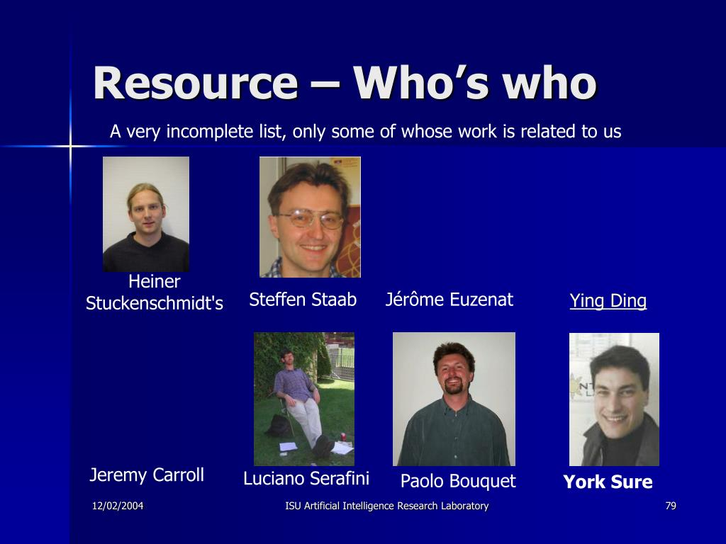 Resource – Who's who