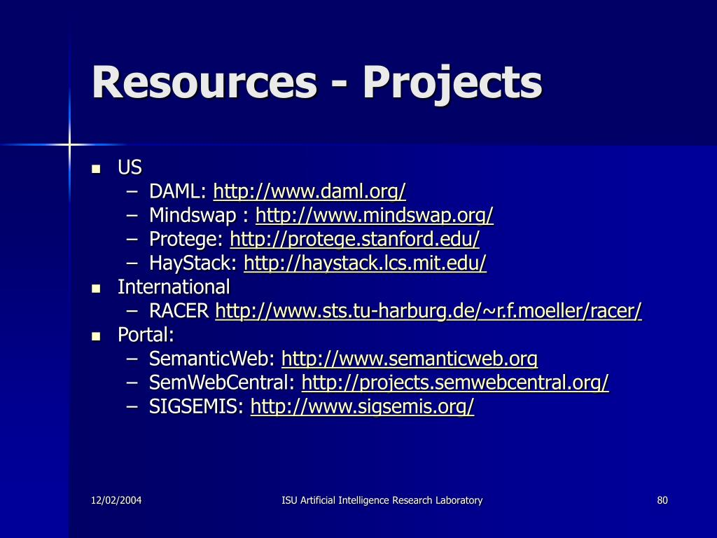 Resources - Projects