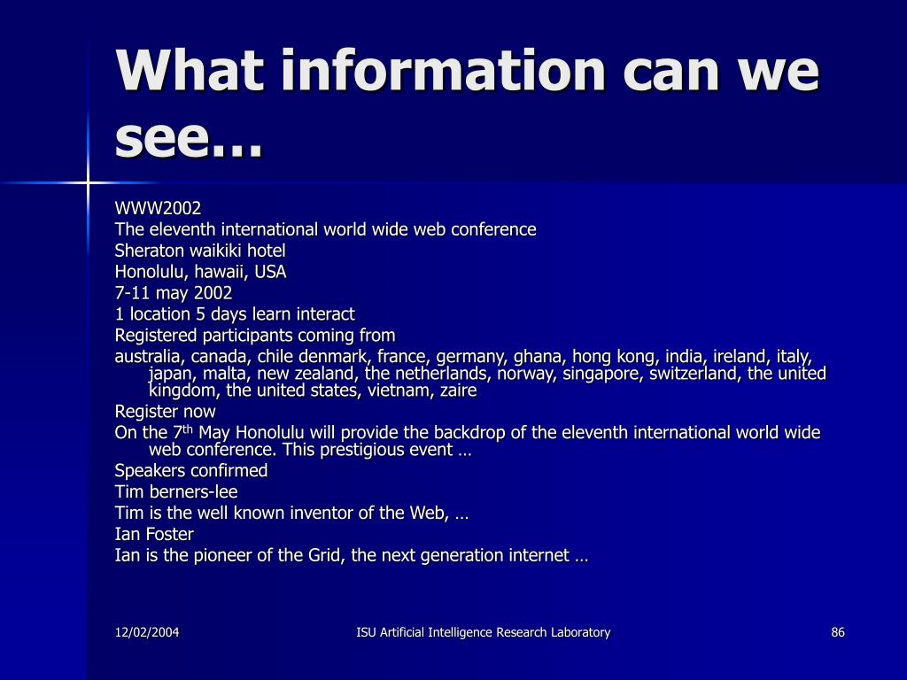 What information can we see…