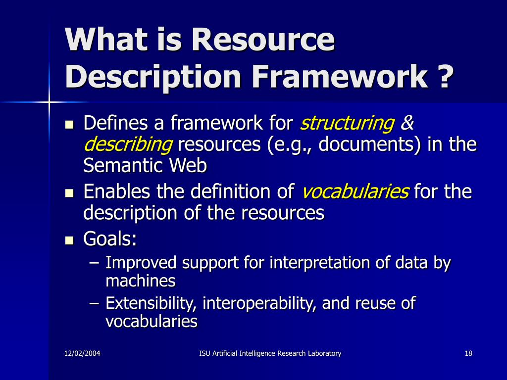 What is Resource Description Framework ?