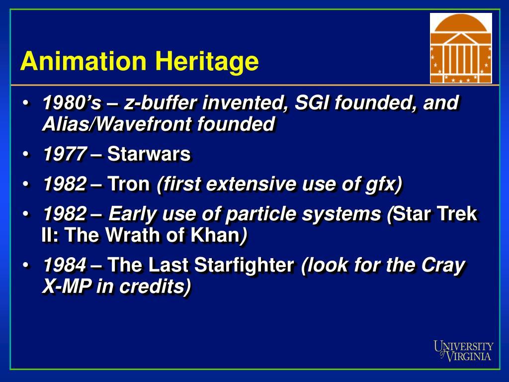 Animation Heritage