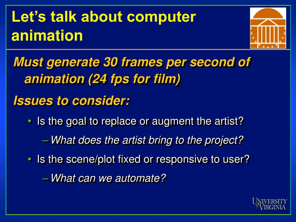 Let's talk about computer animation