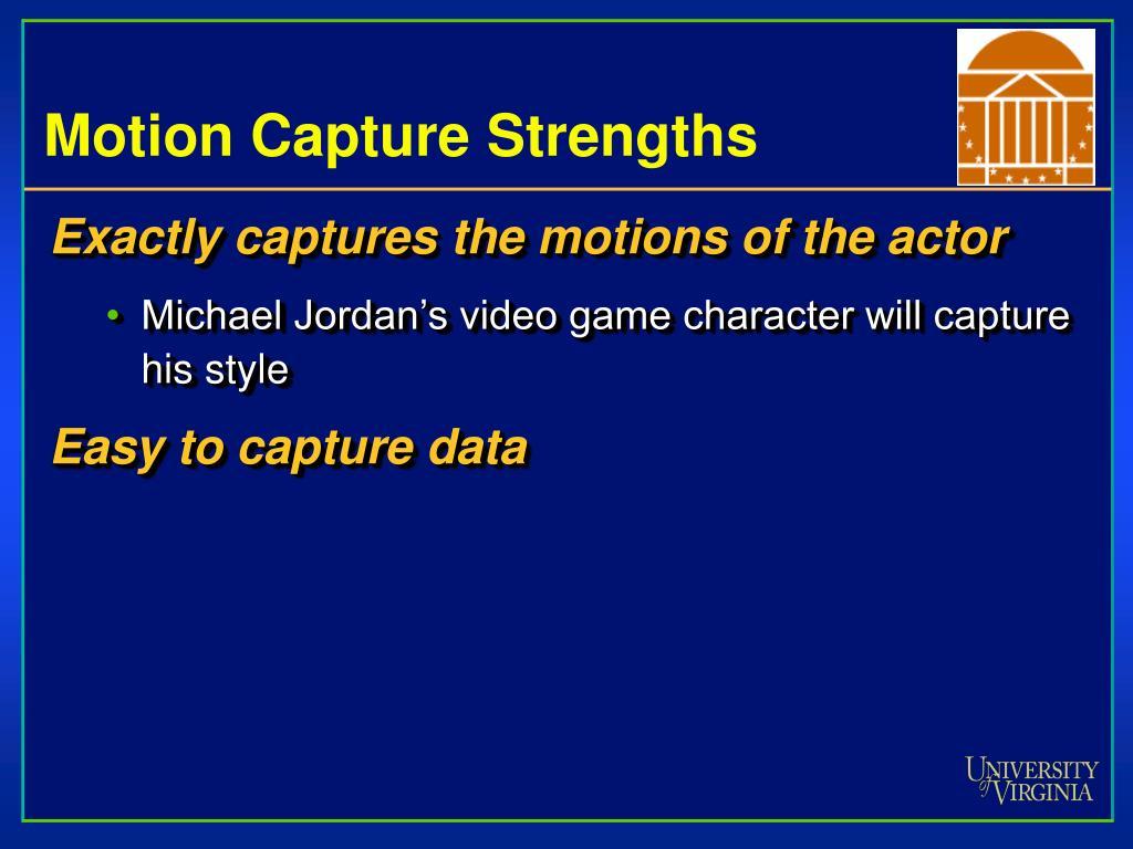 Motion Capture Strengths