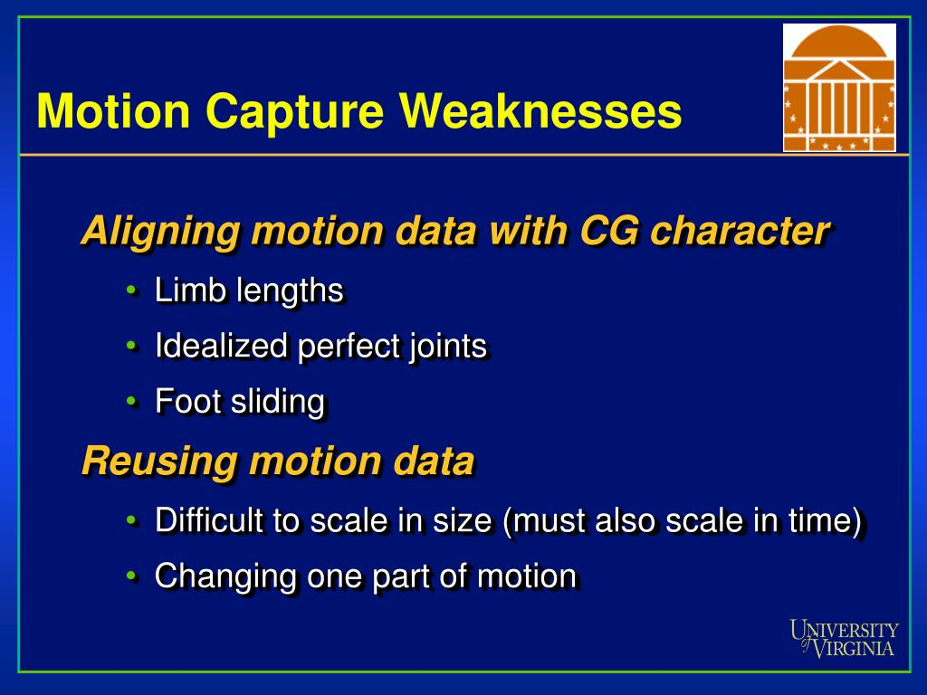 Motion Capture Weaknesses
