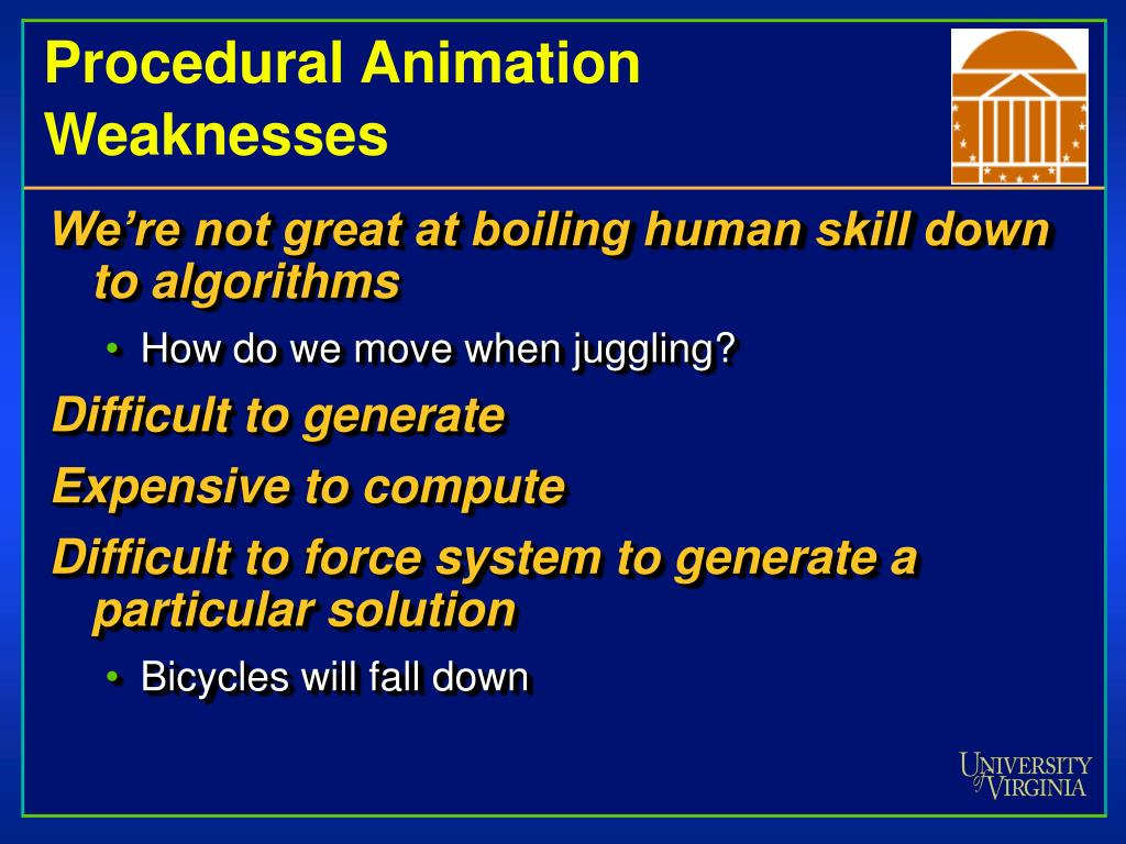 Procedural Animation Weaknesses