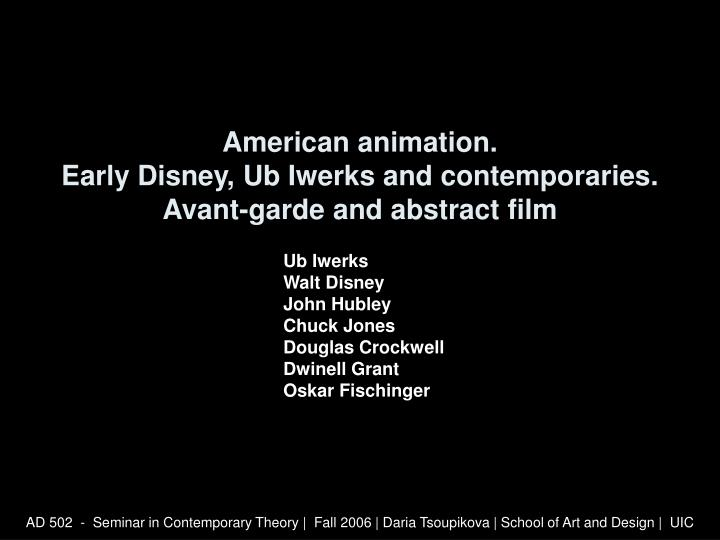 American animation early disney ub iwerks and contemporaries avant garde and abstract film l.jpg