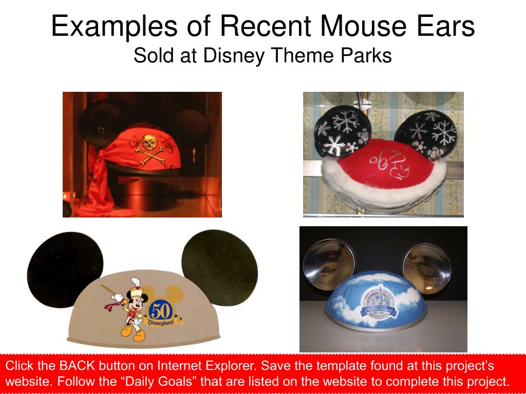 Examples of Recent Mouse Ears