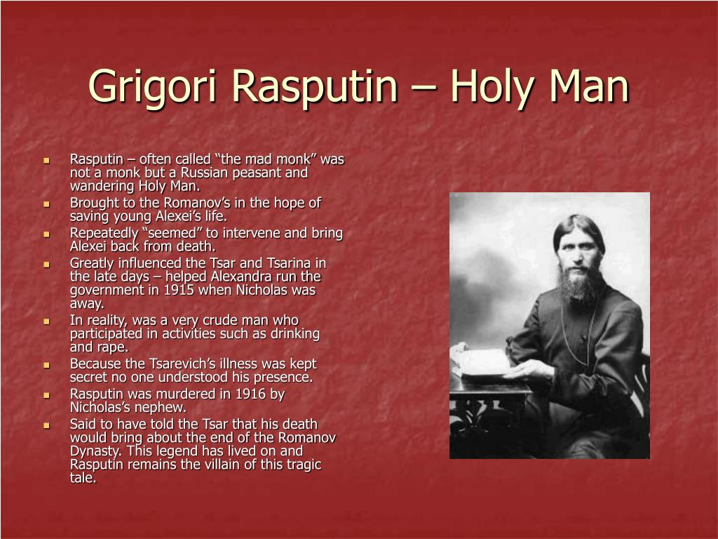 Grigori Rasputin – Holy Man