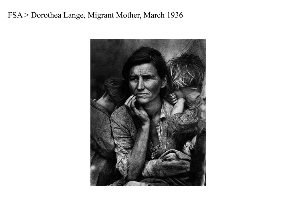 FSA > Dorothea Lange, Migrant Mother, March 1936