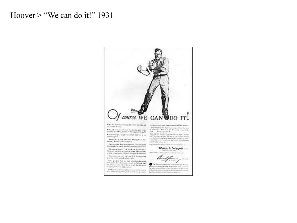 "Hoover > ""We can do it!"" 1931"